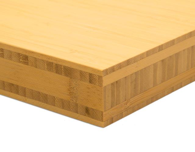 Massief Bamboe Vloer : Aanrechtblad massief bamboe m cm mm naturel side pressed