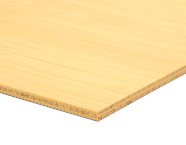 Bamboe plaat naturel side pressed 2m44 x 1m22 x 7mm